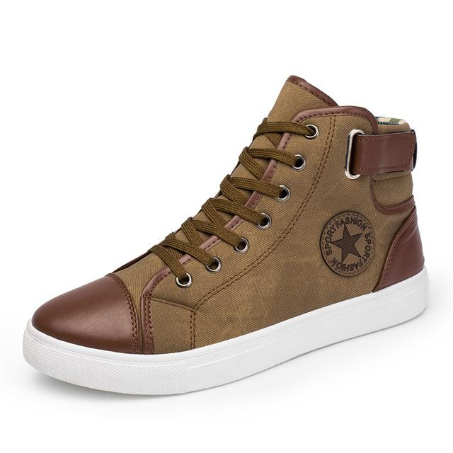 aaa316bc Fashion High Top Canvas Casual Shoes in 2019 | Men's Fashion ...