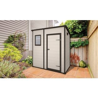 Garden Sheds 6 X 6 buy keter designer pent plastic garden shed - 6 x 4ft at argos.co