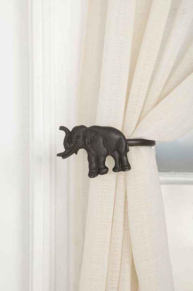 Elephant Curtain Tie Back Left All Elephant Curtains Elephant