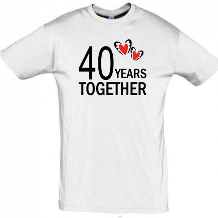 40 years together  T shirt #giftdeas #giftforparents