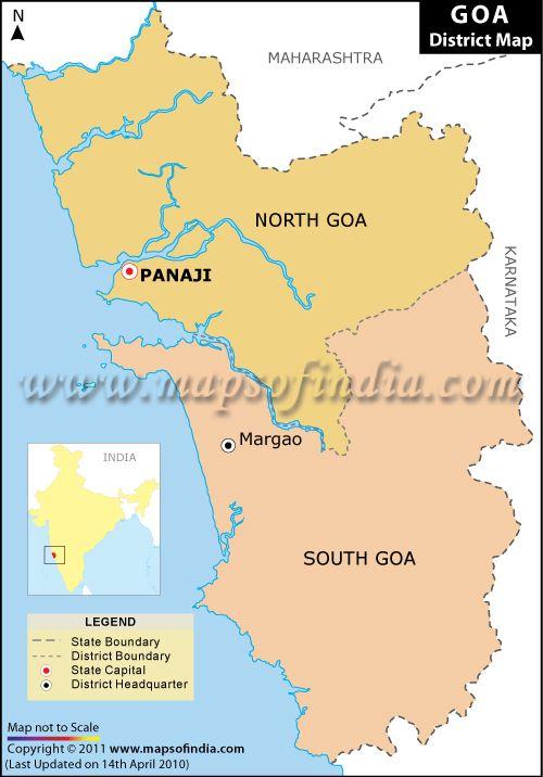 Goa district map district maps pinterest goa y mapas goa district map gumiabroncs Images