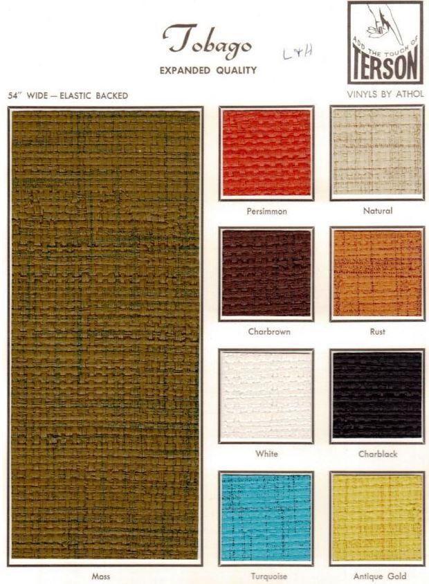 Vintage Vinyl Upholstery Fabric For Your Vintage Trailer Kitchen