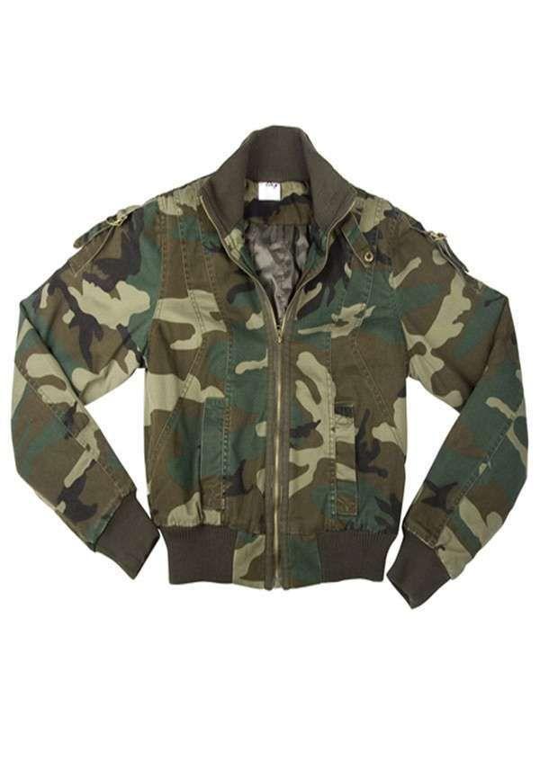 Womens Woodland Camo Vintage Flyers Jackets