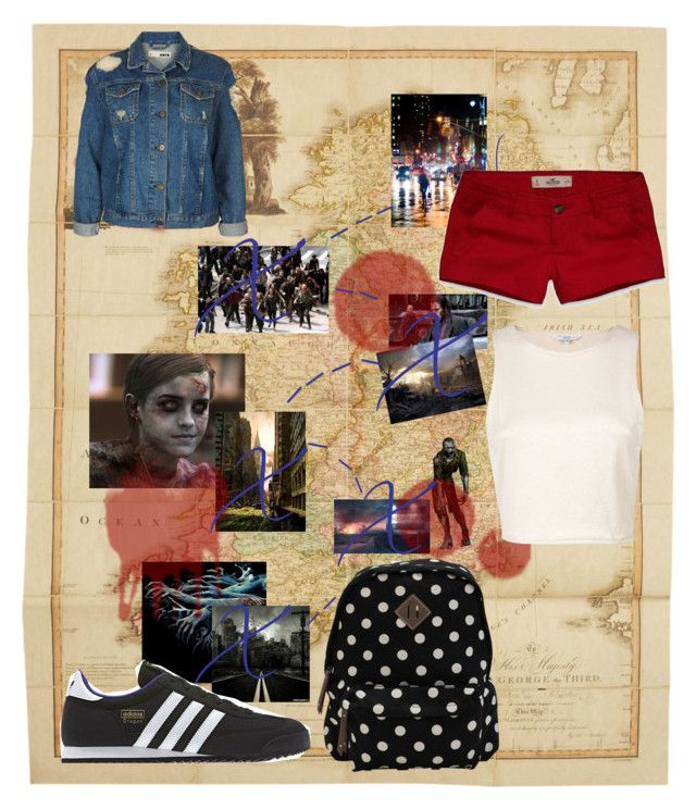 """Zombie Attack! run to the big city"" by queenme10 ❤ liked on Polyvore featuring Giles, Emma Watson, Topshop, Hollister Co., adidas and Madden Girl"