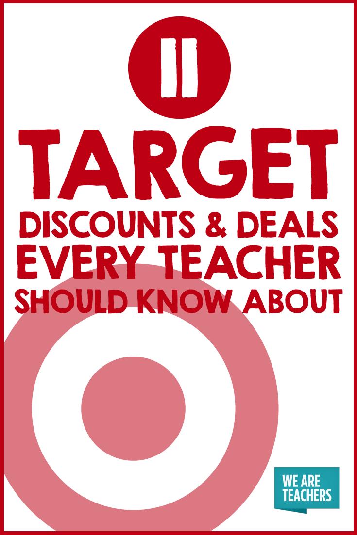 11 Target Discounts And Deals Every Teacher Should Know About Target Discount Teacher Discounts Teacher Deals