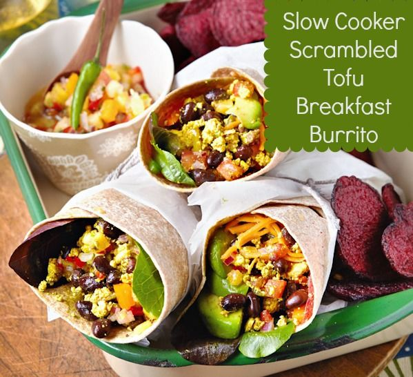 Slow Cooker Scrambled Tofu Breakfast Burrito from Vegan Slow Cooking for Two or Just You (photo by Kate Lewis)
