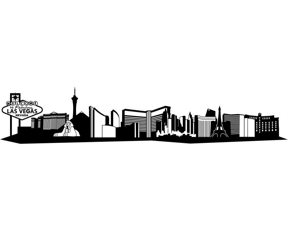 Image result for las vegas skylines silhouette vegas