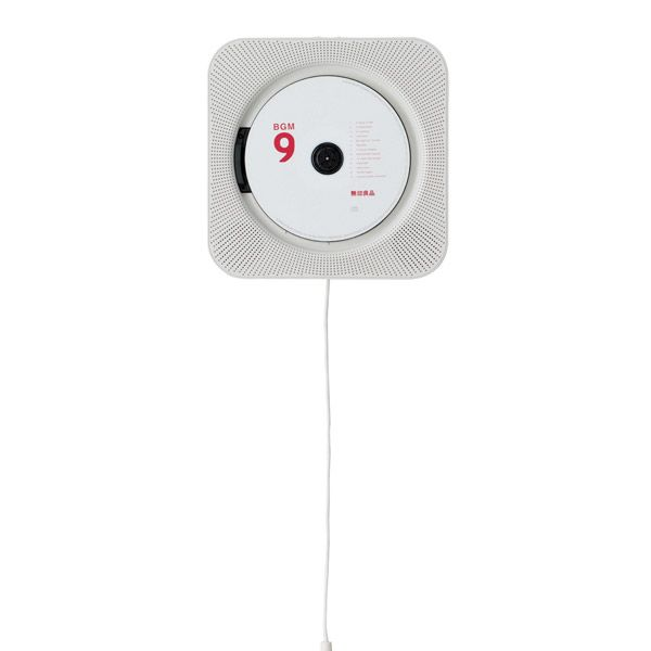 Merveilleux Wall Mounted CD Player With Radio And Remote Control White