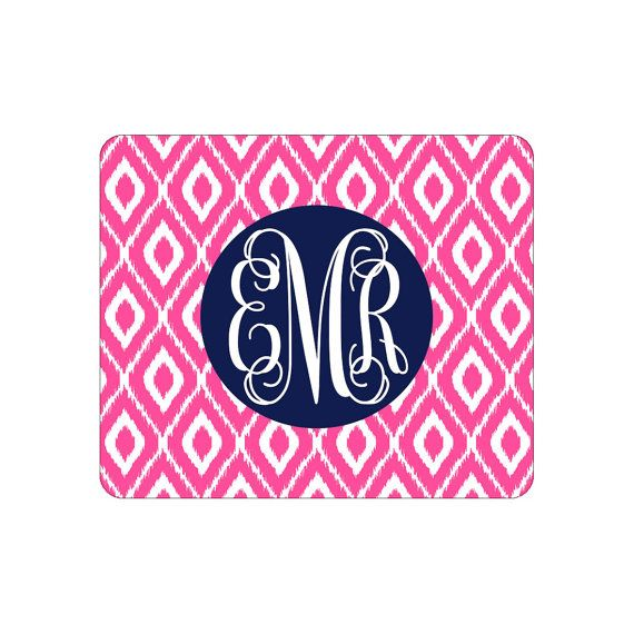 Our Mouse Pads are a great way to brighten up your work or school space!  In notes at checkout please leave the following: 1 - Initials for 3