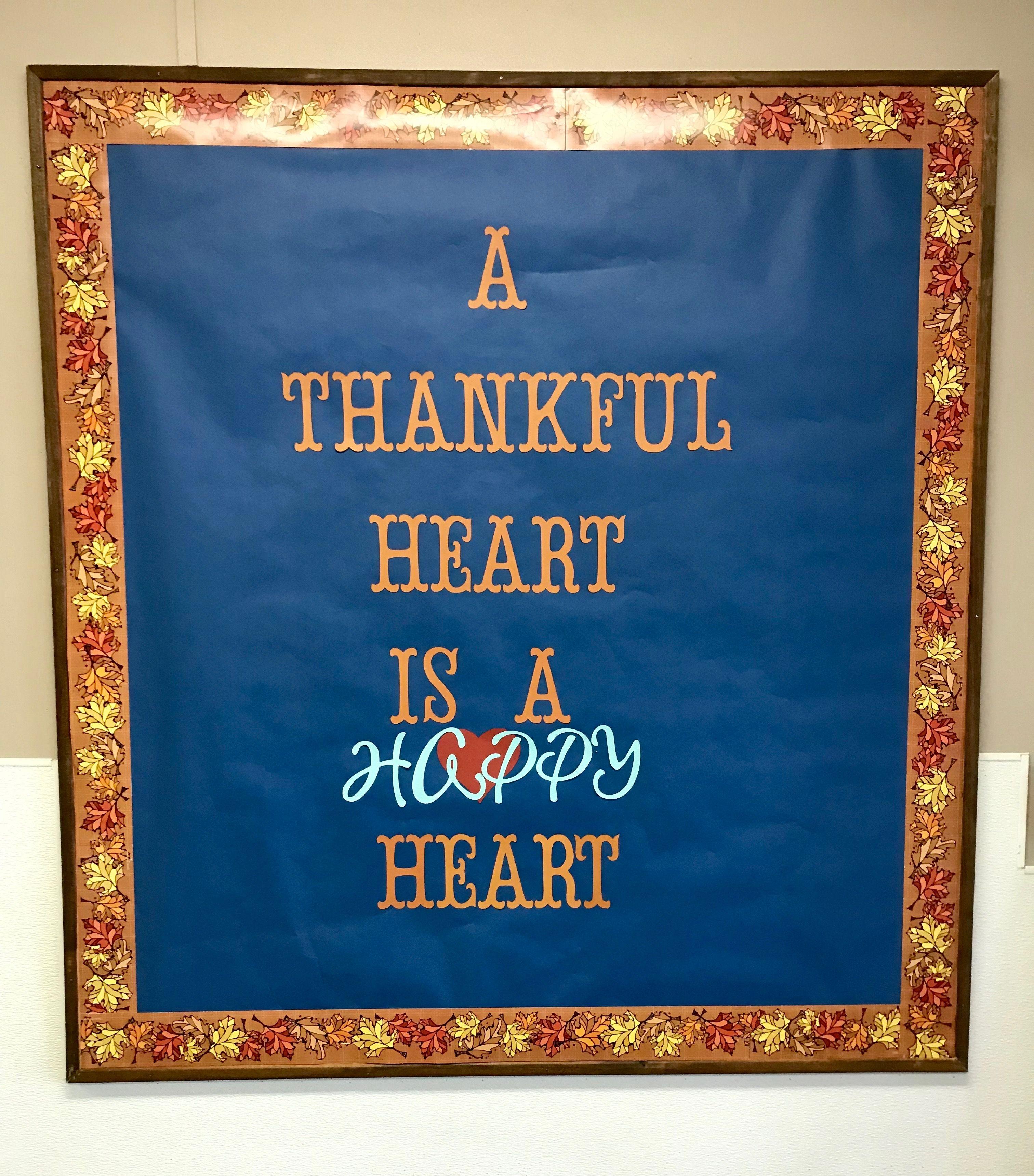 Thanksgiving Bulletin Board Church School Slm