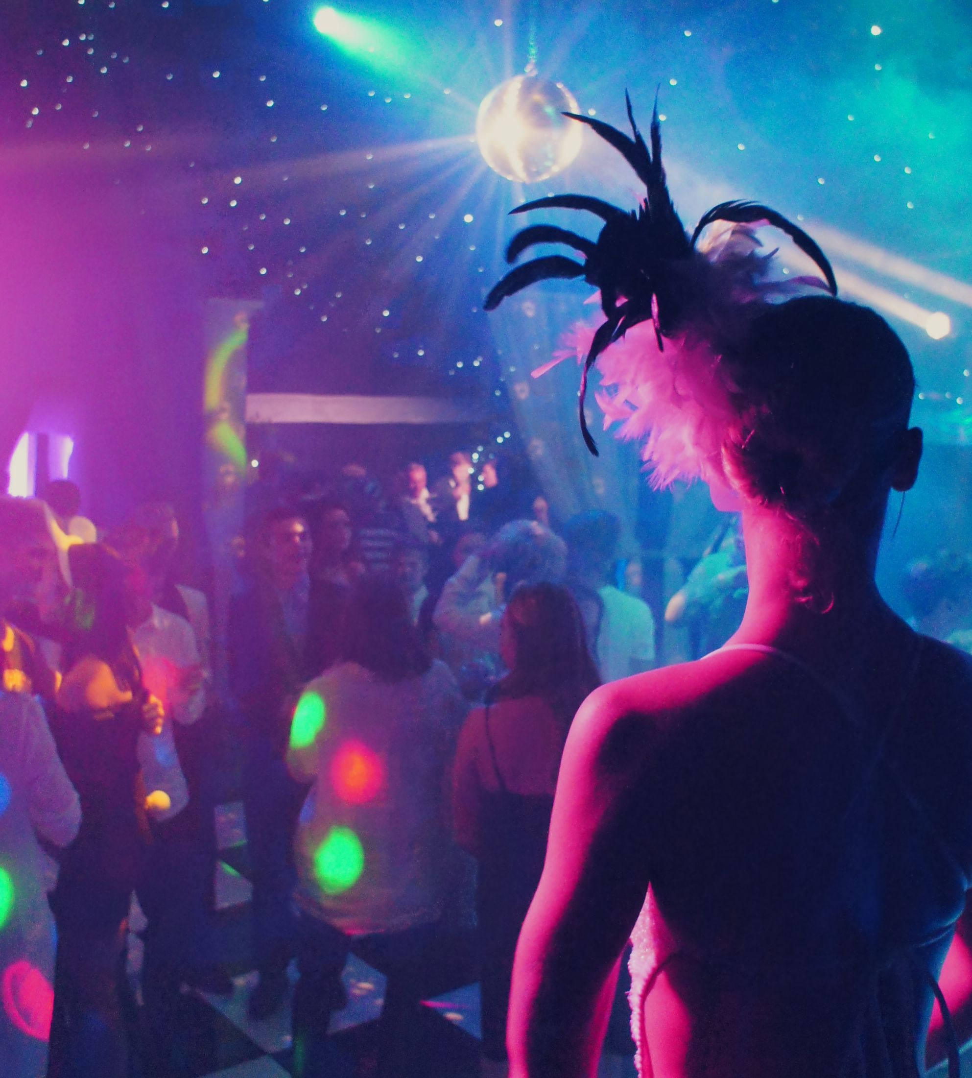 Feathers, a disco ball, a luxury dance floor and elegant lighting in the Rage nightclub... http://mirageparties.co.uk/rage/