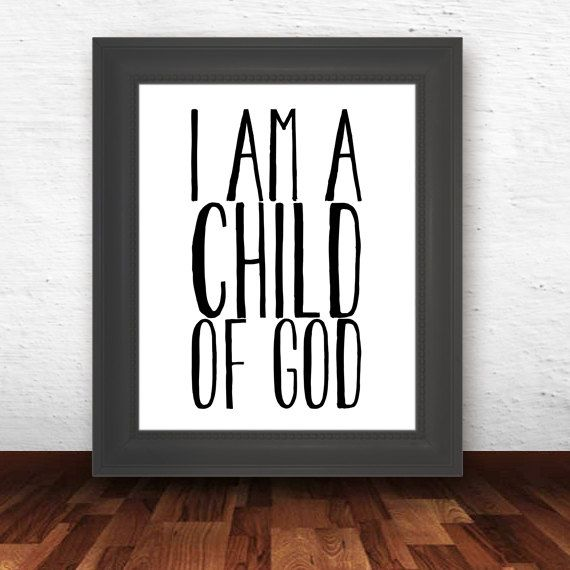 I am a child of God - bible verse print, printable scripture art print, typography poster, christian wall decor poster- INSTANT DOWNLOAD on Etsy, $5.49 AUD