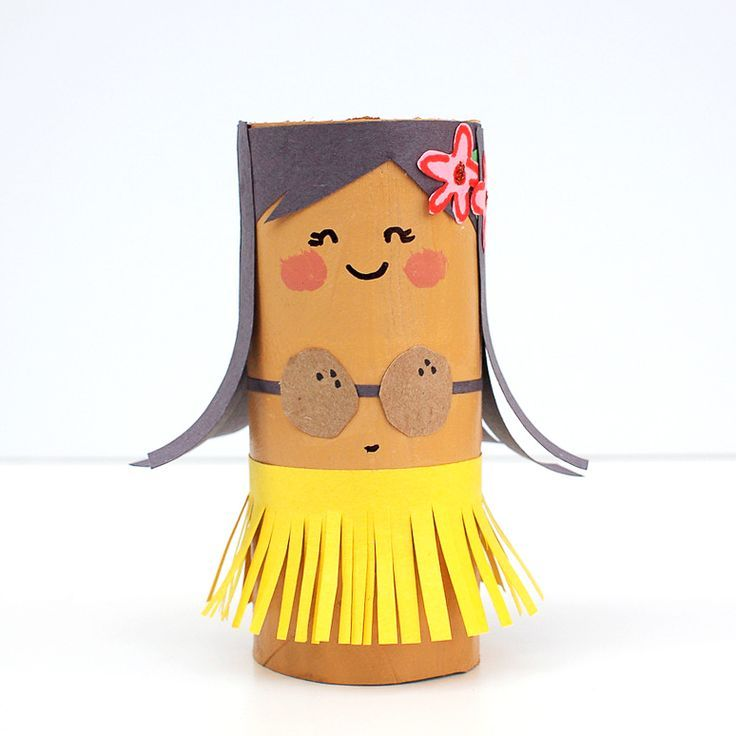 Toilet Roll Crafts | Hula girl
