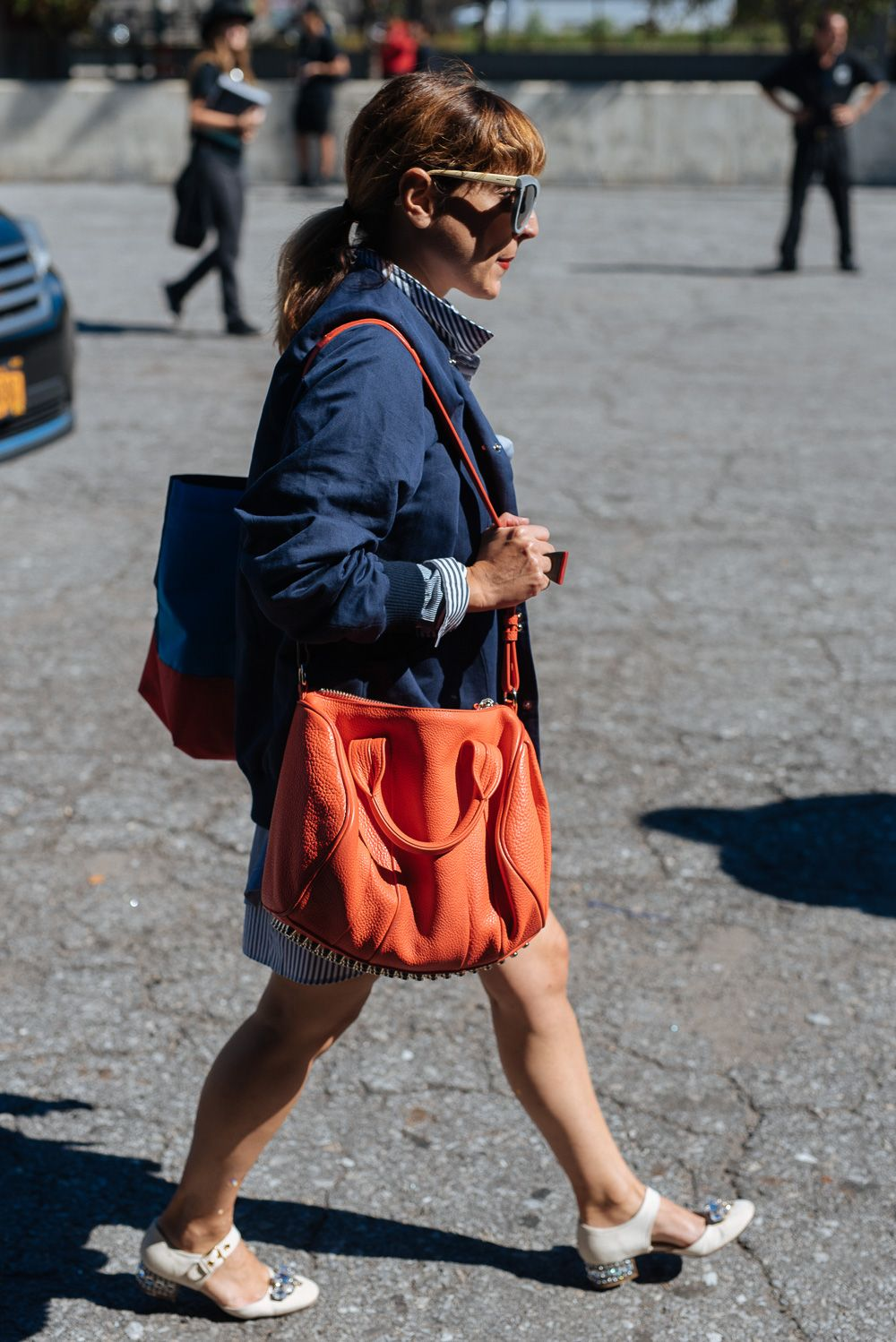7f1ea8bfc658 The Best Bags of NYFW Spring 2016 Street Style – Day 4