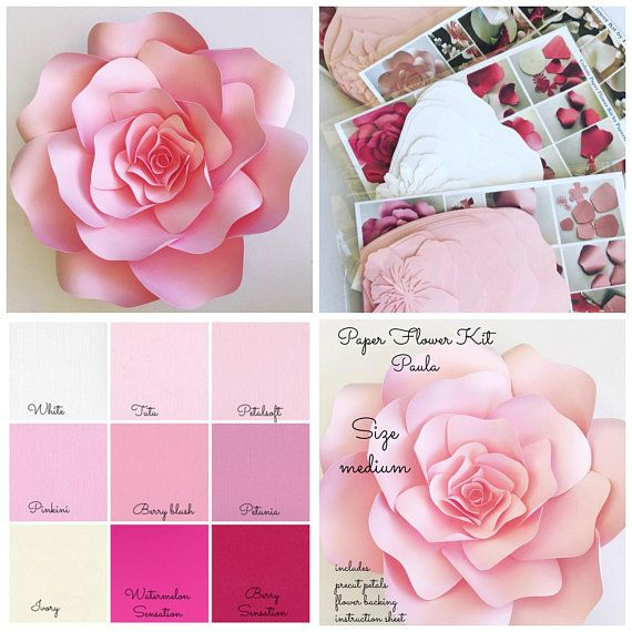 Paper flower kit do it yourself paper flower kits paper flower paper flower kit do it yourself paper flower kits paper flower template kits large paper flowers paper flowers for nursery decor large paper flowers mightylinksfo Images