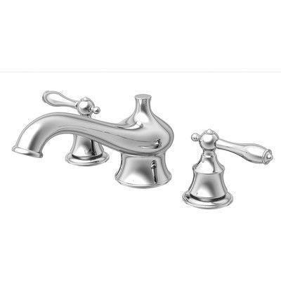 Aqueous Faucet Teabury Double Handle Desk Mount Roman Tub Faucet ...