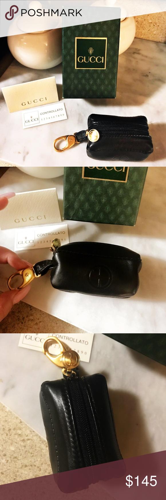 169594d6759 Gucci Rare GG Mini Coin Purse   Keychain Authentic Gucci Rare Vintage  Lambskin Coin