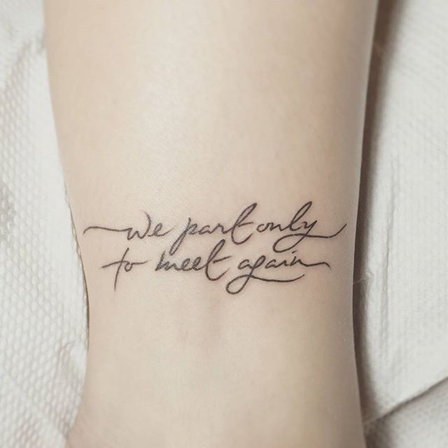 These 37 small quote tattoos will help you follow big for How long after a tattoo can you go swimming