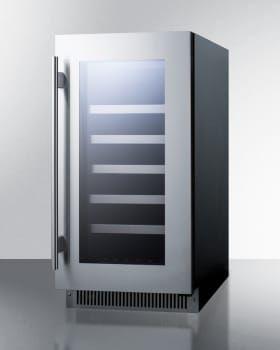 Summit Cl18wc 18 Inch Counter Depth Wine Cooler With 29 Bottle Capacity Reversible Door