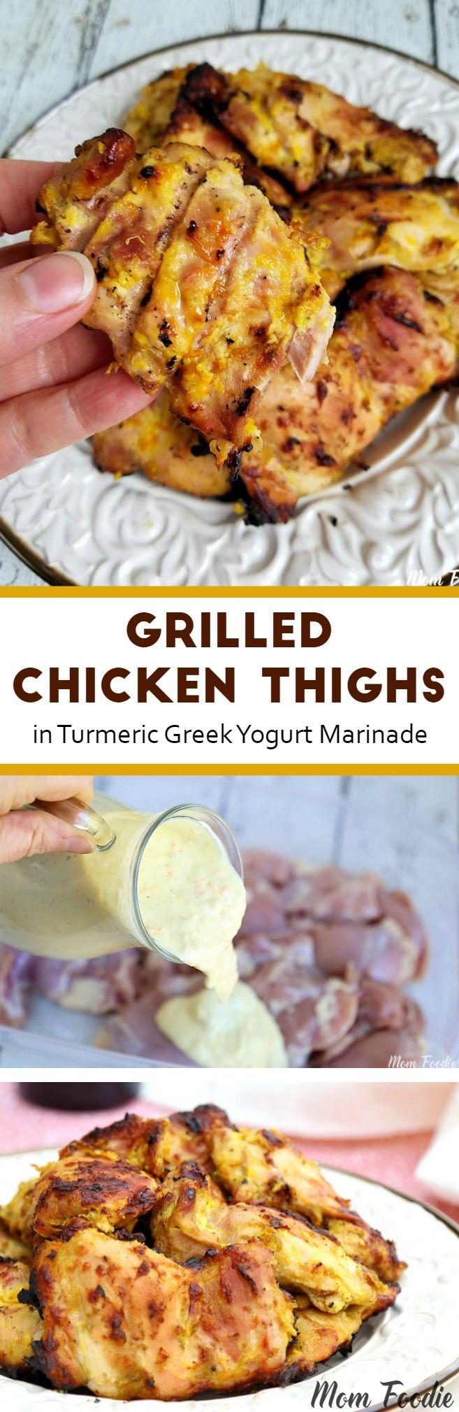 Grilled Chicken Thighs In Greek Yogurt Marinade Yogurt Marinade Poultry Recipes Grilled Chicken Recipes