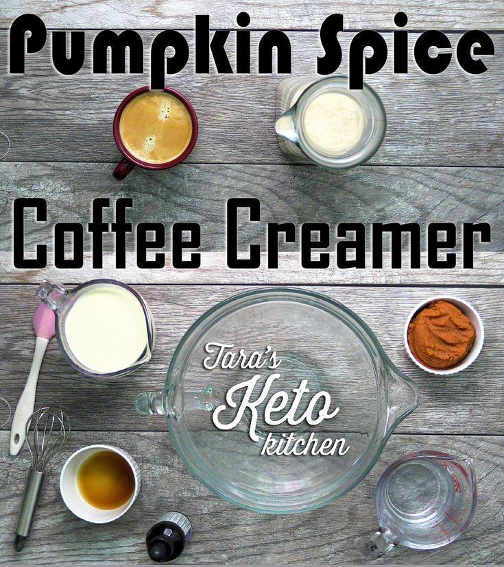 Keto Pumpkin Spice Coffee Creamer #pumpkinspiceketocoffee