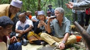 I would love to go to Madagascar with Anthony Bourdain