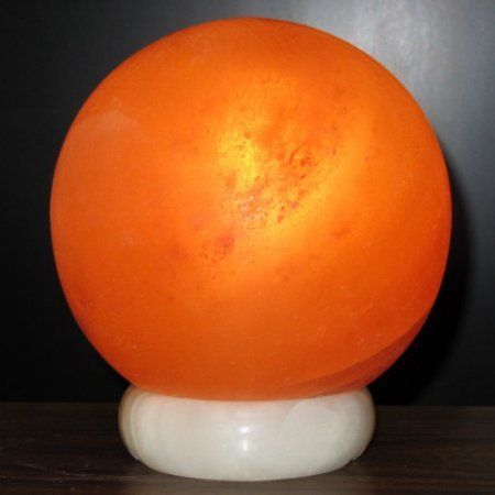 Salt Lamp Walmart Prepossessing Deluxe Comfort 5'' Round Crystal Salt Table Lamp With Sphere Shade