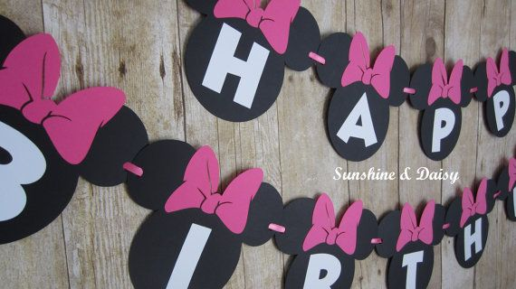 Check out this item in my Etsy shop https://www.etsy.com/listing/120232349/minnie-mouse-banner-happy-birthday