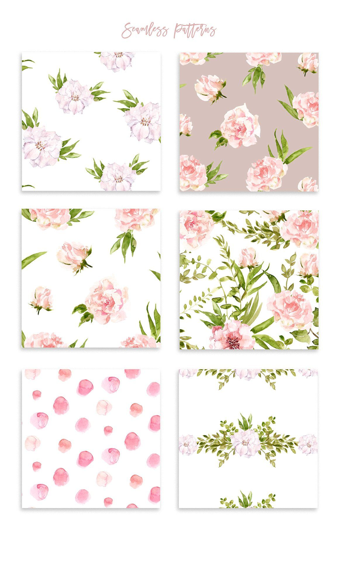 Floral Patterns Bundle Vol 2 By Spasibenko Art On Creativemarket