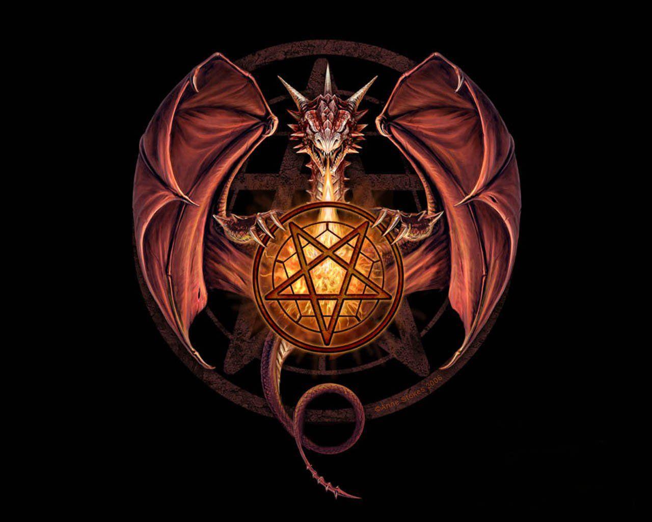 Fantasy Pentagram Art