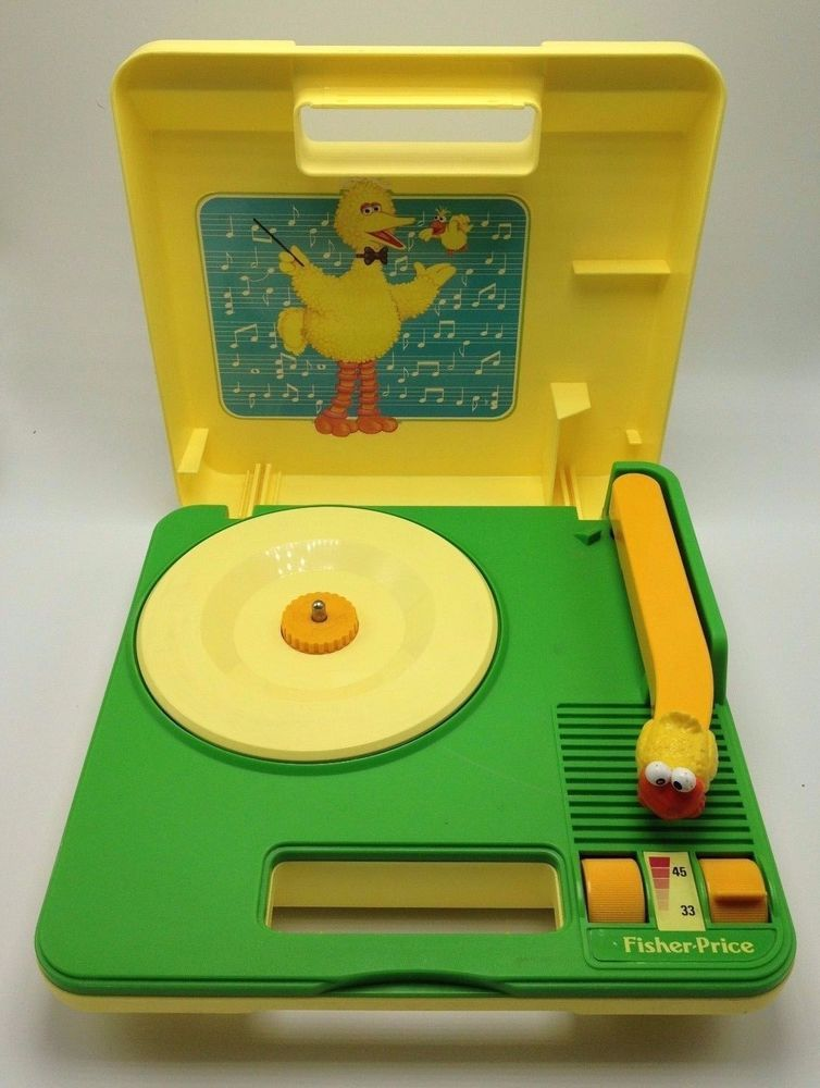 Sesame Street Big Bird Fisher Price Record Player 1983 Battery Phonograph 33 45 #FisherPrice
