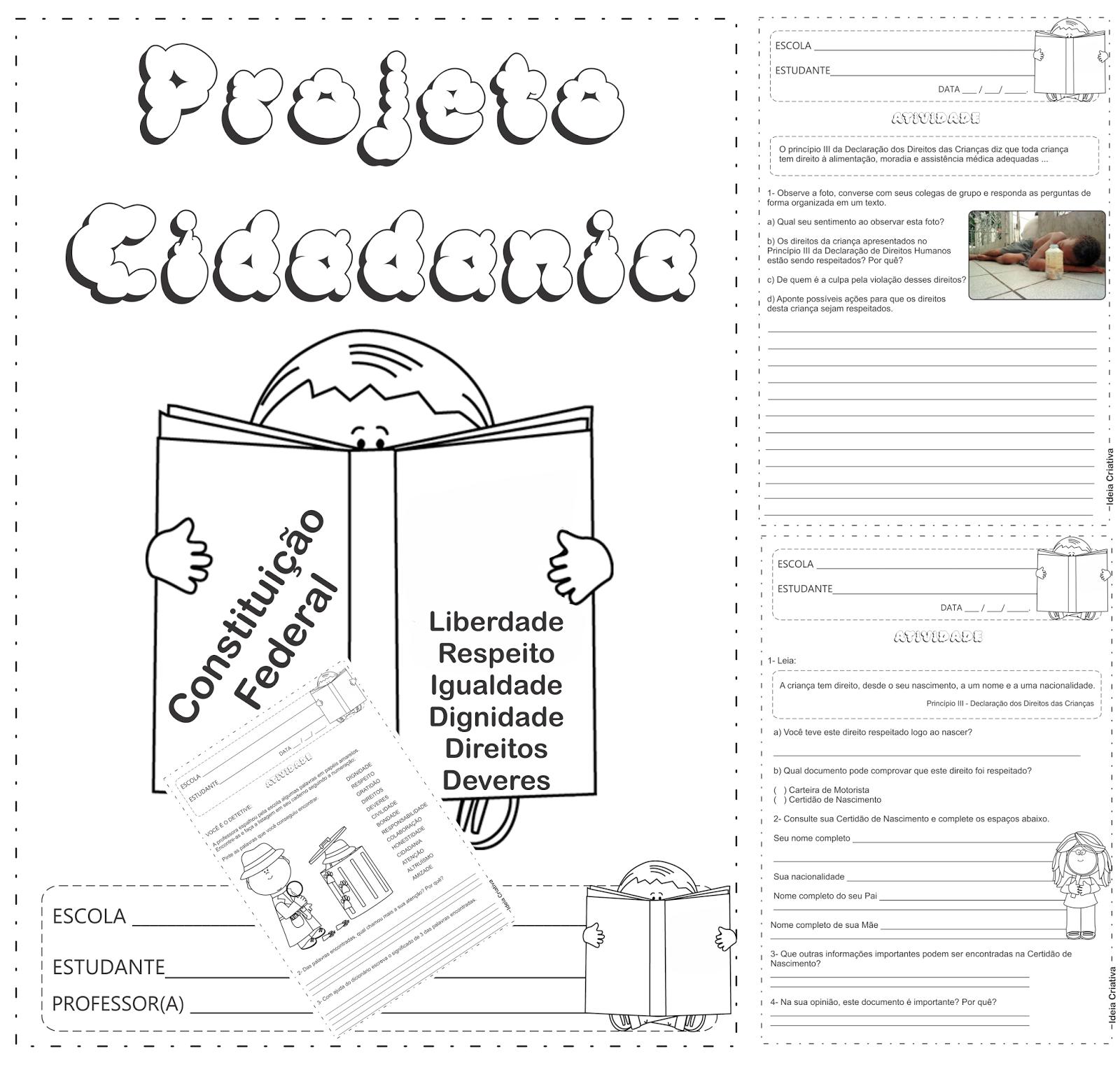 Top Loja Ideia Criativa: Caderno de Atividades Projeto Cidadania  YZ13