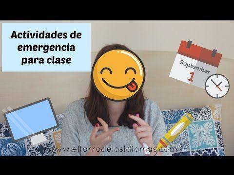 Actividades de emergencia para clase / Ideas / Spanish Lesson - YouTube