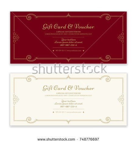 Gift certificate, voucher, gift card or cash coupon template in - coupon format