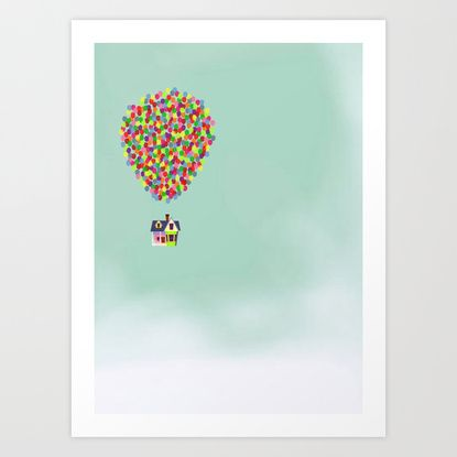 Up Art Print by Derek Temple | Society6