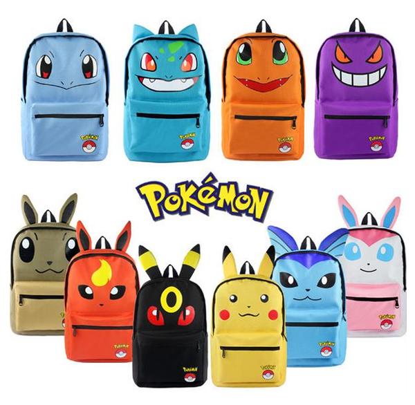 Costume Props Brave Anime Pokemon Pikachu Backpack Pocket Monster Cosplay Kawaii Shoulder Bag Children Plush Backpack