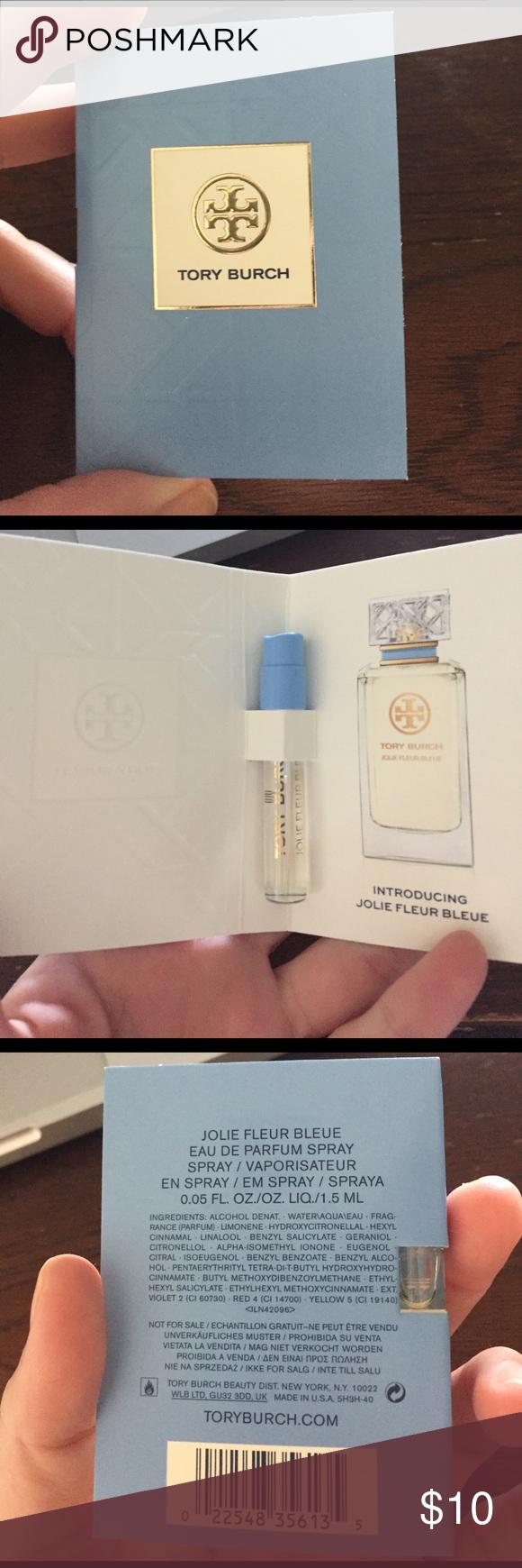 "Tory Burch ""Jolie Fleur Bleue"" Perfume Tory Burch Jolie fleur bleue perfume sample. 0.05 oz, never used. Tory Burch Makeup"