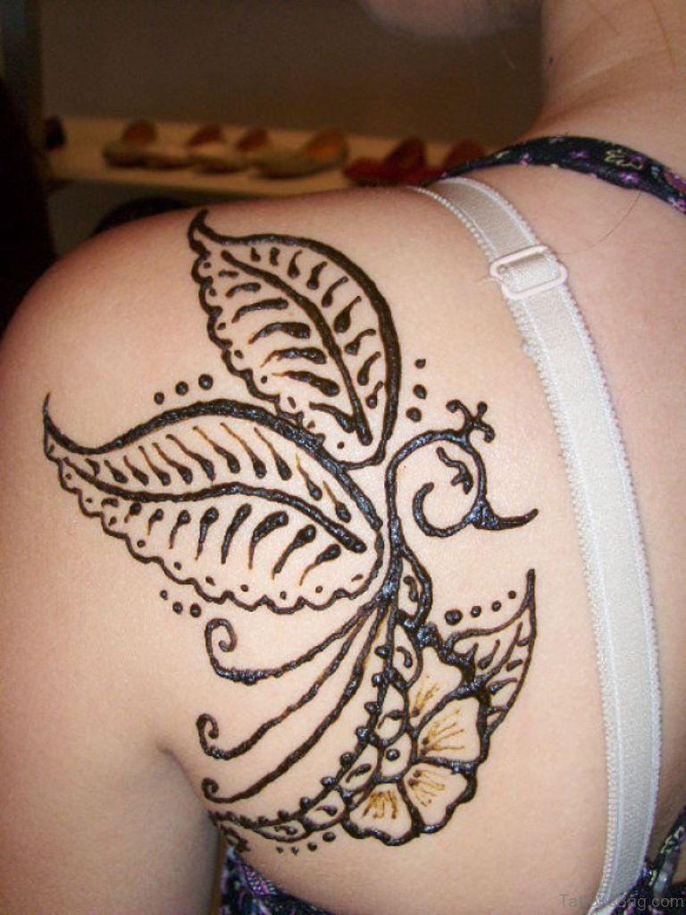 45 Lovely Henna Tattoo On Shoulder Tattoo Henna Henna Tattoo