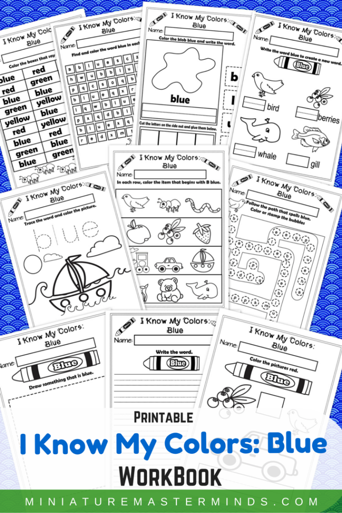 I Know My Colors – Blue No-Prep Printable WorkBook | Learning ...
