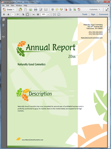 Annual Report Sample   The Annual Report Sample Is An Example Of A Using  Proposal Pack