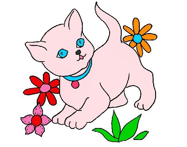 Dibujos De Gatos A Color Para Imprimir Dibujos Character