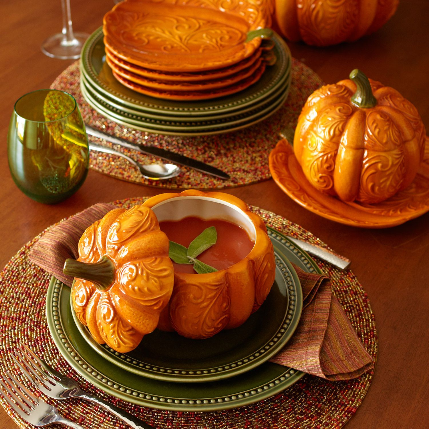 My Pumpkin Soup Bowls (from Pier One)