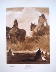 Collage of Piegan Images by Edward Curtis. Original by Curtis Collection.