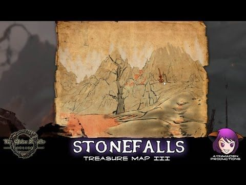 Stonefalls Treasure Map III | ESO - Treasure Map | Treasure ...