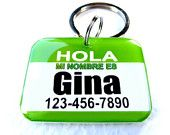 Dog Collar Tag Hello My Name is Heart