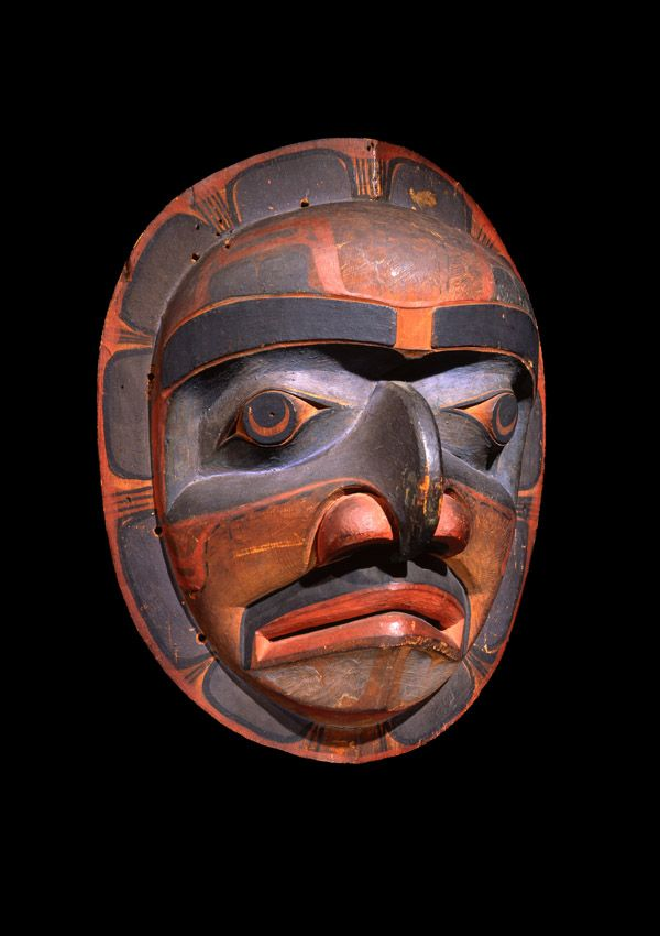 Kwakiutl Mask Now In The Collection Of The Private