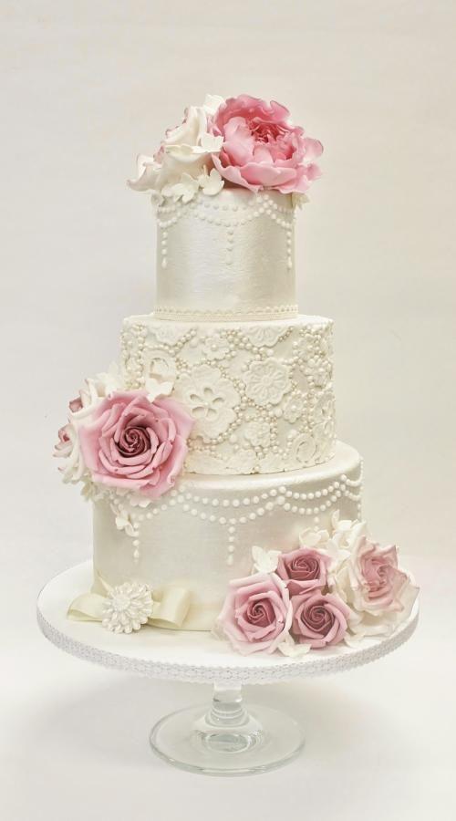 Vintage Wedding Cake Lace Wedding Cake Vintage Cake Wedding Cakes Vintage