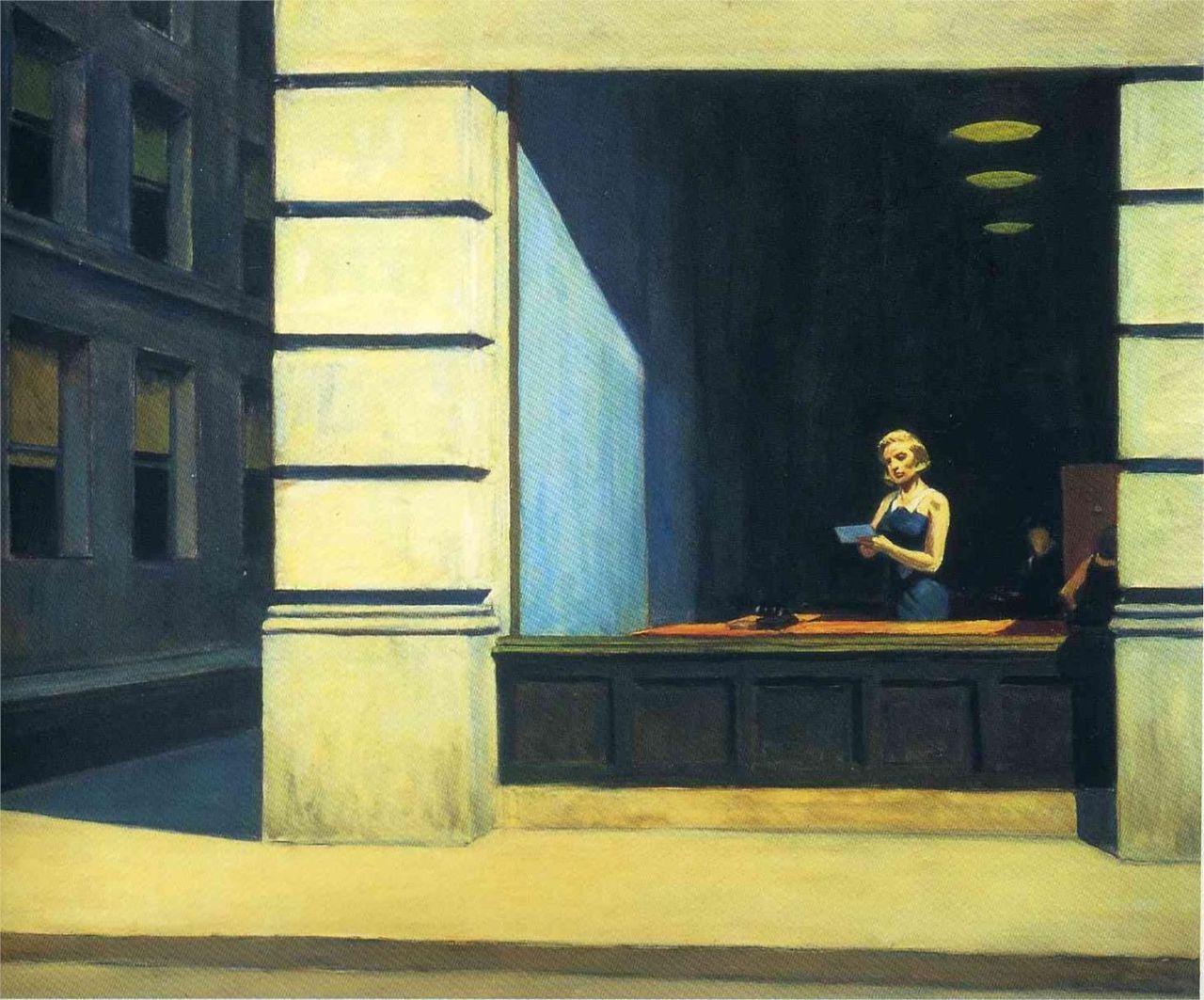 art-centric: New York Office - Edward Hopper, 1962 | New York as ...
