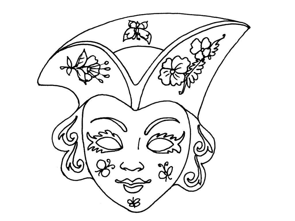 Pingl par nadine sur coloriages mardi gras carnival et home decor - Masque de carnaval de venise a imprimer ...