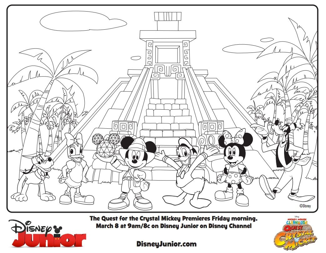 Color Mickey\'s Quest for the Crystal Mickey! #DisneyJunior | Mickey ...